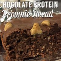 The BEST Chocolate Protein Brownie Bread!