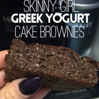 Greek Yogurt Chocolate Cake Brownies