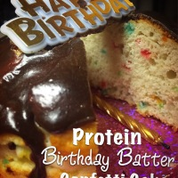 Protein Birthday Batter Confetti Cakes!