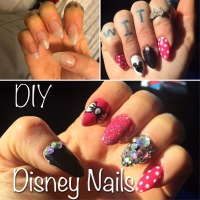 Minnie Mouse DIY Disney Nails