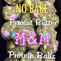 Healthy Pastel Peanut Butter M&M Balls For The Easter Bunny!