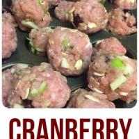 Skinny Girl Thanksgiving Cranberry Meatballs!