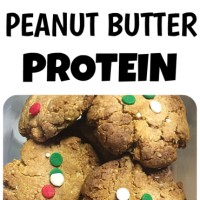 Holiday Peanut Butter Protein Cookie Crisps!