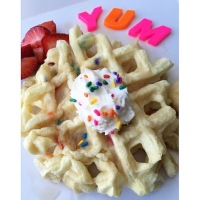 Birthday Cake Breakfast Waffle For DUMMIES!