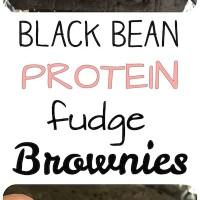 GLUTEN FREE Black Bean Protein Fudge Brownies!