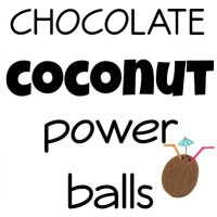 Chocolate Coconut Power Balls!